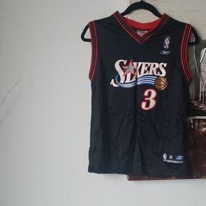 rare reekbok philidephia sizers jersey